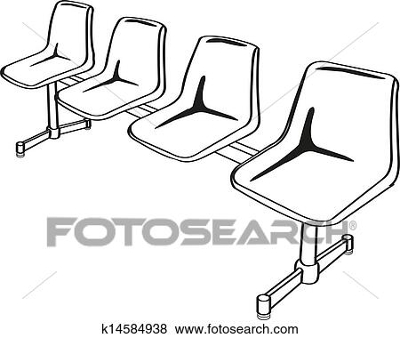 Public link chair on green background  sc 1 st  Fotosearch & Clip Art of link chairs outline vector k14584938 - Search Clipart ...