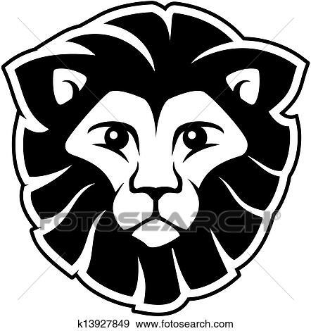 clipart lion t te mascotte k13927849 recherchez des cliparts des illustrations des. Black Bedroom Furniture Sets. Home Design Ideas