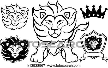 clip art of lion vector logo design elements k13938967 search