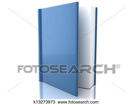 Livre Bleu Couverture Sur Fond Blanc Dessin
