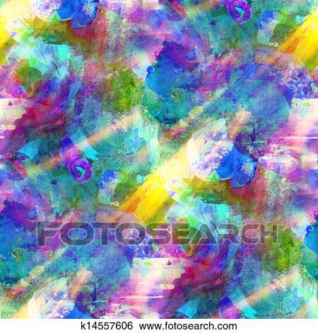 Lumière Soleil, Peinture, Seamless, Bleu, Vert, Arrière Plan Violet,  Aquarelle, Couleur, Art Abstrait