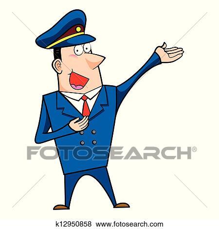 Clipart m le dessin anim gendarme k12950858 - Gendarme dessin ...