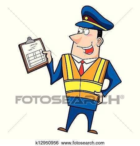 Clipart m le dessin anim gendarme k12950956 - Gendarme dessin ...