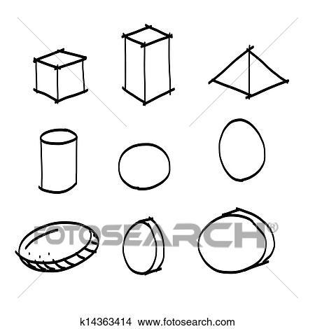 Clipart main dessin forme g om trique k14363414 - Dessin forme geometrique ...