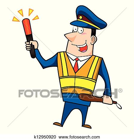 clipart of male cartoon police officer k12950920 search clip art rh fotosearch com cap clipart black and white cop clipart black and white
