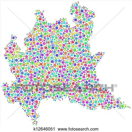 Clipart Of Map Of Lombardy Italy K12646051 Search Clip Art