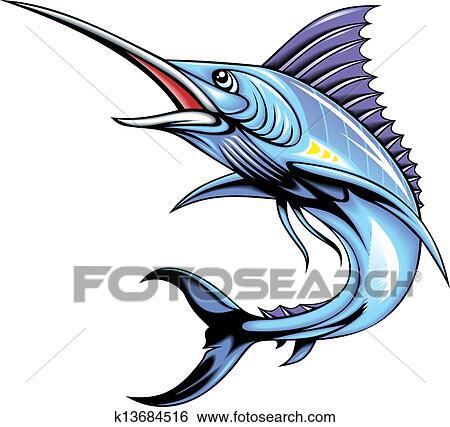 clip art of marlin fish k13684516 search clipart illustration rh fotosearch com sailfish clipart