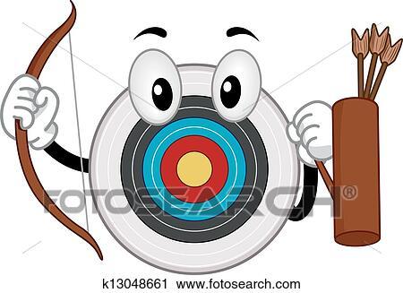 Clipart Maskottchen Von Bogensport Brett K13048661 Suche Clip