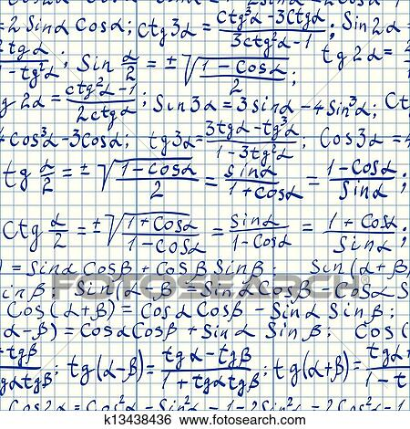 Clip Art Of Math Background K13438436 Search Clipart Illustration
