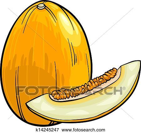 clip art of melon fruit cartoon illustration k14245247 search rh fotosearch com lemon clipart lemon clip art images