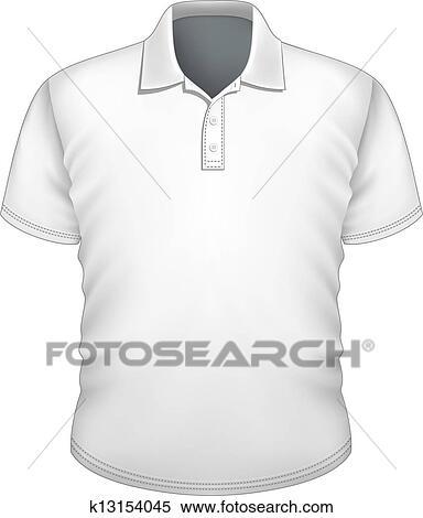 Clipart of Men\'s polo-shirt design template k13154045 - Search Clip ...