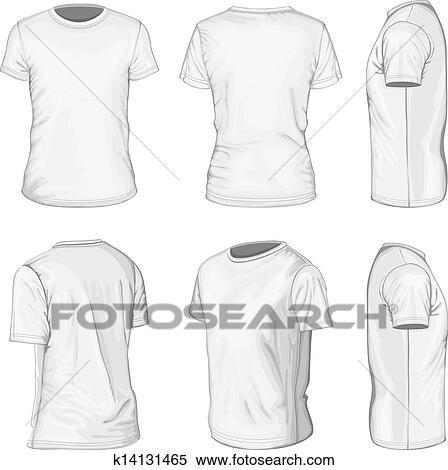 High T Shirt Design Templates | Clipart Of Men S White Short Sleeve T Shirt Design Templates