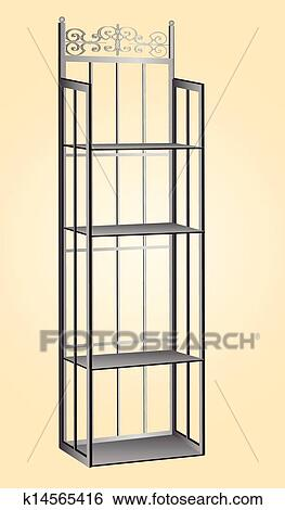 Metal Bakers Rack Clip Art K14565416