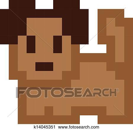Mignon Chien Pixel Art Clipart