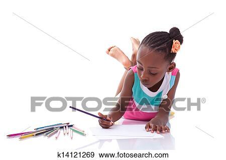 Banque De Photographies Mignon Noir Americain Africain Petite