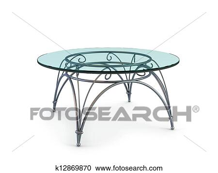 Modern Coffee Glass Table Clipart K12869870 Fotosearch