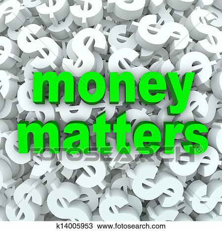 stock photo of money matters words dollar sign currency background