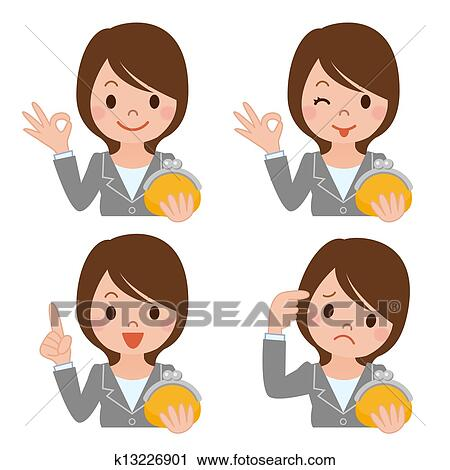 clipart of money a businesswoman k13226901 search clip art rh fotosearch com businessman clipart free businesswoman clipart black and white