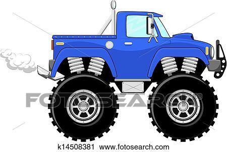 Clipart Monstertruck 4x4 Dessin Animé K14508381 Recherchez Des