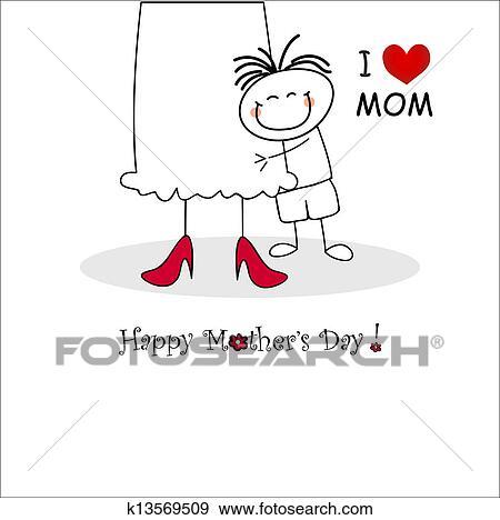 Muttertag Karte.Muttertag Karte Stock Illustration