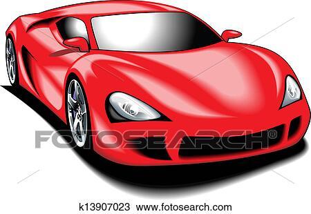my original sport car my design in red color clipart k13907023 fotosearch. Black Bedroom Furniture Sets. Home Design Ideas