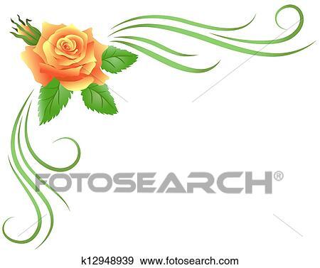 Clip Art Nehmen Kurve Blumen Verziehrung K12948939 Suche
