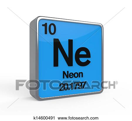 Clipart Of Neon Element Periodic Table K14600491 Search Clip Art