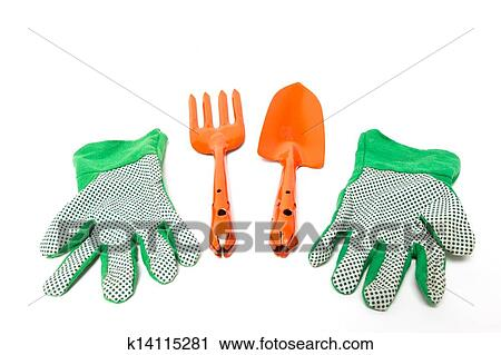 New Shiny Gardening Tools Kit Including Fork Trowel And Gloves