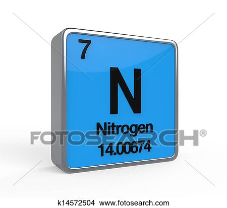Drawings Of Nitrogen Element Periodic Table K14572504 Search Clip