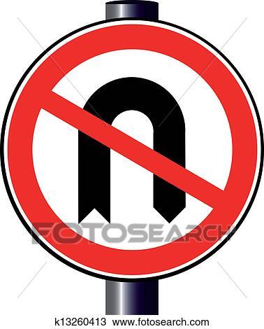 Clipart Of No U Turn K13260413