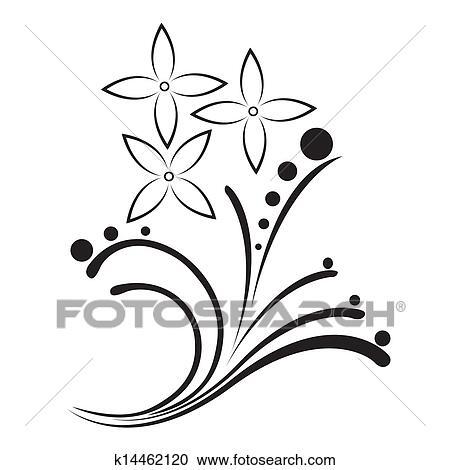 Clipart Noir Blanc Tatouage Dans Les Couler K14462120