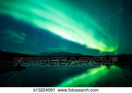 stock photography of northern lights in iceland k13224091 search