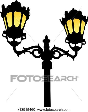 Clipart Of Old Fashioned Street Lamp K13915460