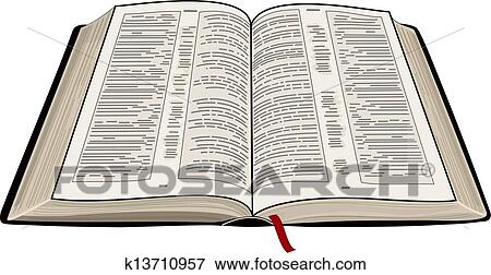 clip art of open bible k13710957 search clipart illustration