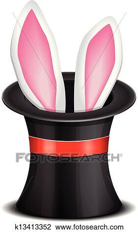 Clipart oreilles lapin appara tre depuis les magie - Clipart oreille ...