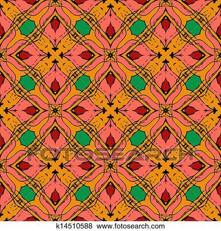 Clip Art Orientalische Muster Mit Indische Thailandisch