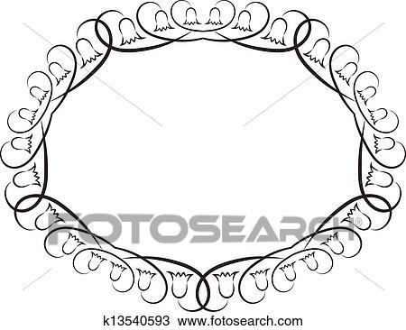 Clipart Of Oval Frame K13540593
