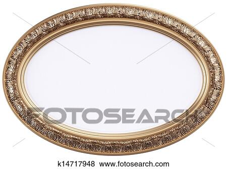 Stock Illustration of oval gilded picture frame or mirror k14717948 ...