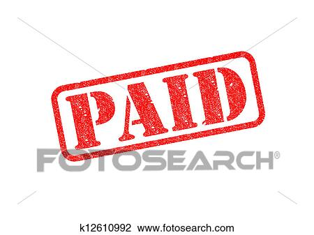 clip art of paid stamp k12610992 search clipart illustration rh fotosearch com pain clip art free pain clip art free