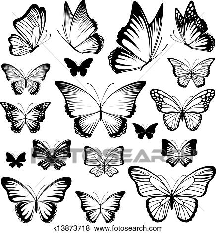clipart papillon tatouage silhouettes k13873718 recherchez des cliparts des illustrations. Black Bedroom Furniture Sets. Home Design Ideas
