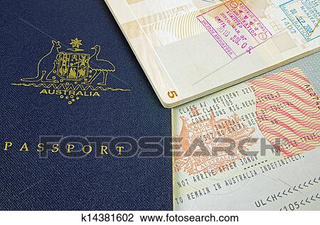 Australian Passport With Customs Stamps And Immigration Visa