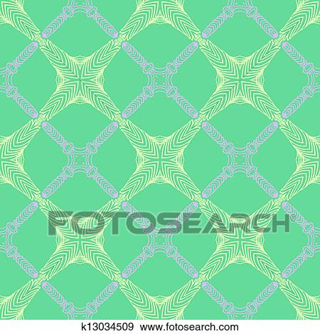 Pattern In Emerald Green Thin Elegant Lines Clip Art