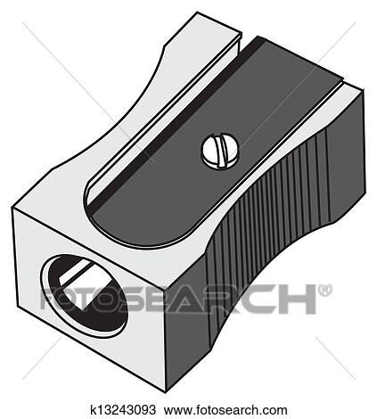 Clipart Of Pencil Sharpener K13243093
