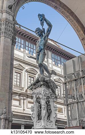 Perseus With The Head Of Medusa In Florence Italy Stock Image