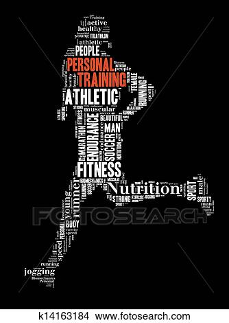 drawings of person running personal training k14163184