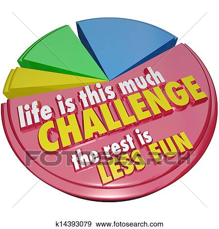 Stock Illustration Of Pie Chart Life This Much Challenge Rest Less