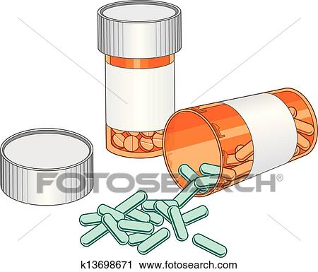 clipart pill bottles prescription drug fotosearch search clip art illustration murals
