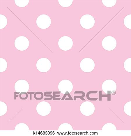 Seamless vector pattern with big white polka dots on a pastel baby pink background. For cards, invitations, wedding or baby shower albums, desktop wallpaper ...