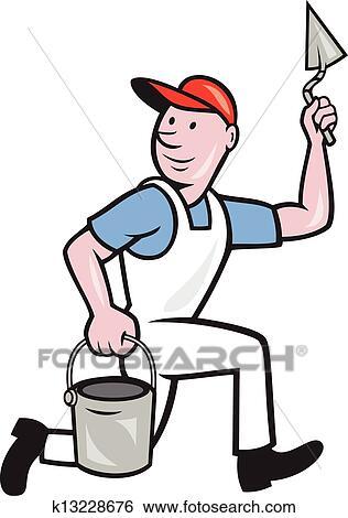 clip art of plaster masonry worker cartoon k13228676 search rh fotosearch com masonic clipart backgrounds masonic clipart black and white