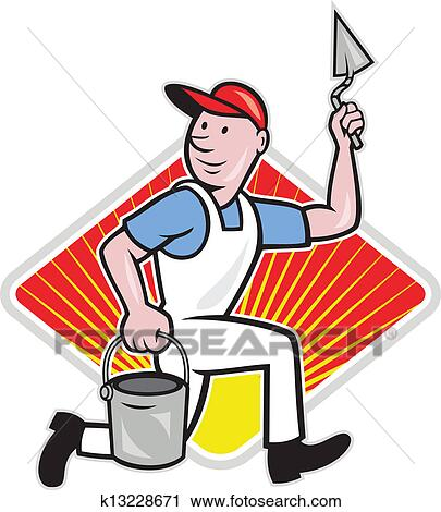 clipart of plaster masonry worker cartoon k13228671 search clip rh fotosearch com masonic clipart black and white masonic clipart
